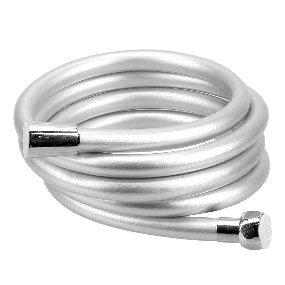 1.2/1.5/2m flexível de alta pressão anti enrolamento pvc handheld chuveiro mangueira gi/2 interface universal acessórios do banheiro