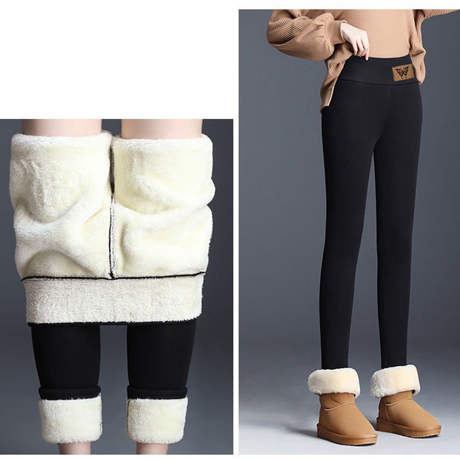 Mallas gruesas elásticas para mujer, pantalones de cintura alta, ajustados, de terciopelo, para invierno, 2020