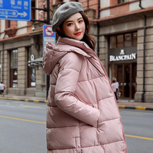 Fashion Pockets Loose Woman Long Parkas Winter Padded Jacket Sleeve Thick Hooded Women Tops Plus Size XXXL female Coats