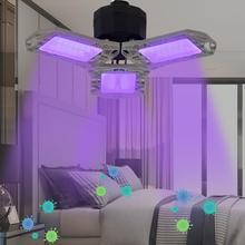 Uv Disinfection Lamp 2-in-1 Folding Garage Lamp Sterilization Light Ultraviolet Disinfection Lamp For Living Room Home Garage