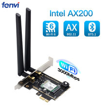 Masaüstü Wi-Fi 6 PCI-E kablosuz adaptör 2.4Gbps 2.4G/5Ghz 802.11ac/ax Bluetooth 5.1 AX200NGW Wifi kartı Intel AX200 MU-MIMO