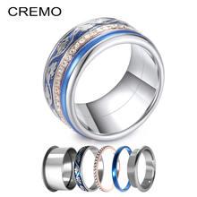 Роскошное кольцо cremo из нержавеющей стали для мужчин и женщин