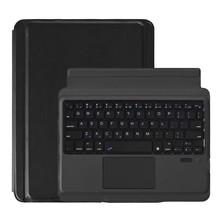 Caso de teclado sem fio com touchpad teclado sem fio bluetooth caso para ipad ar 2 9.7-Polegada tablet pc