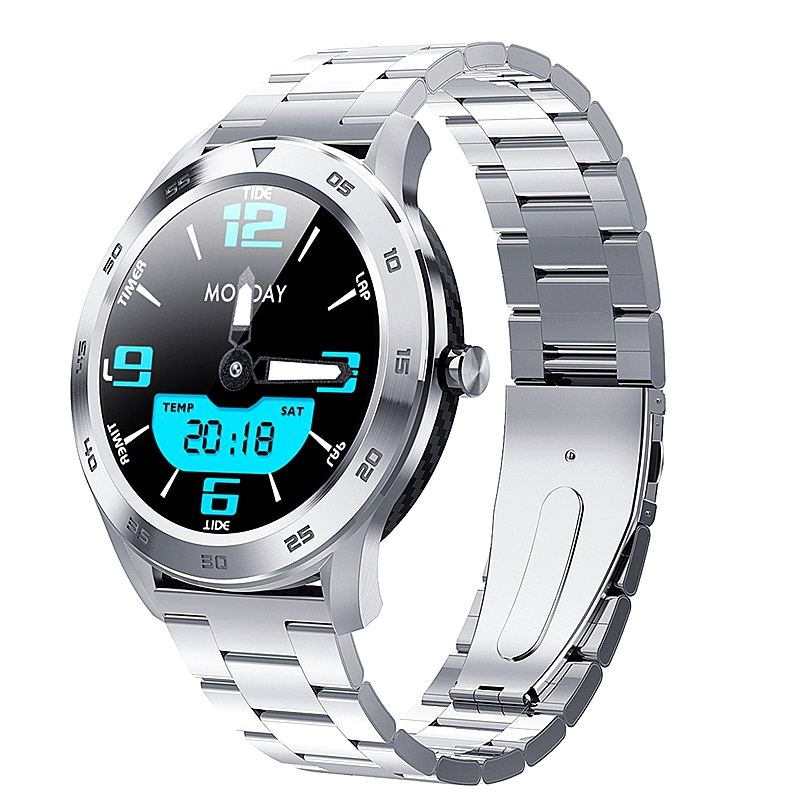 Nennbo <font><b>DT98</b></font> <font><b>Smart</b></font> <font><b>Watch</b></font> Men Phone Call Dial ECG PPG Full Round Touch Screen Smartwatch Waterproof IP68 for Android IOS ksr909 image
