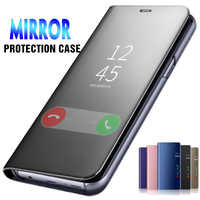 Mirror Smart Leather Cover Case For Huawei Honor 7C 7A 8X 8C 8S 8A 20 P20 P30 Pro 9 10 Lite Y9 Y5 Prime Y7 Y6 2019 2018 JAT-L29