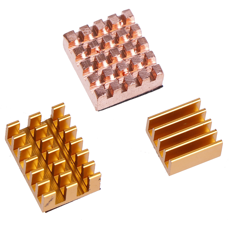 3pcs/set For <font><b>Raspberry</b></font> <font><b>Pi</b></font> 4B Copper Cooling Pad <font><b>Heatsink</b></font> Radiator Cooling Kit Cooler For <font><b>Raspberry</b></font> <font><b>Pi</b></font> <font><b>4</b></font> <font><b>Model</b></font> <font><b>B</b></font> Heat Sink image