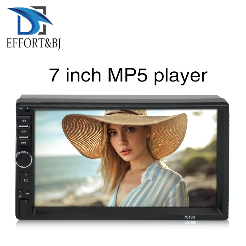 7 Inch universal front panel:178mm*100mm wince MP5 Car Radio Stereo Audio Stereo Radio with Radio BT Mirror-Link Aux Head Unit image