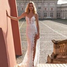 Eightree Mermaid Wedding Dress Backless Lace Wedding Gowns 2020 Elegant Sexy Beach Bride Dresses Vintage Boho Wedding Dresses