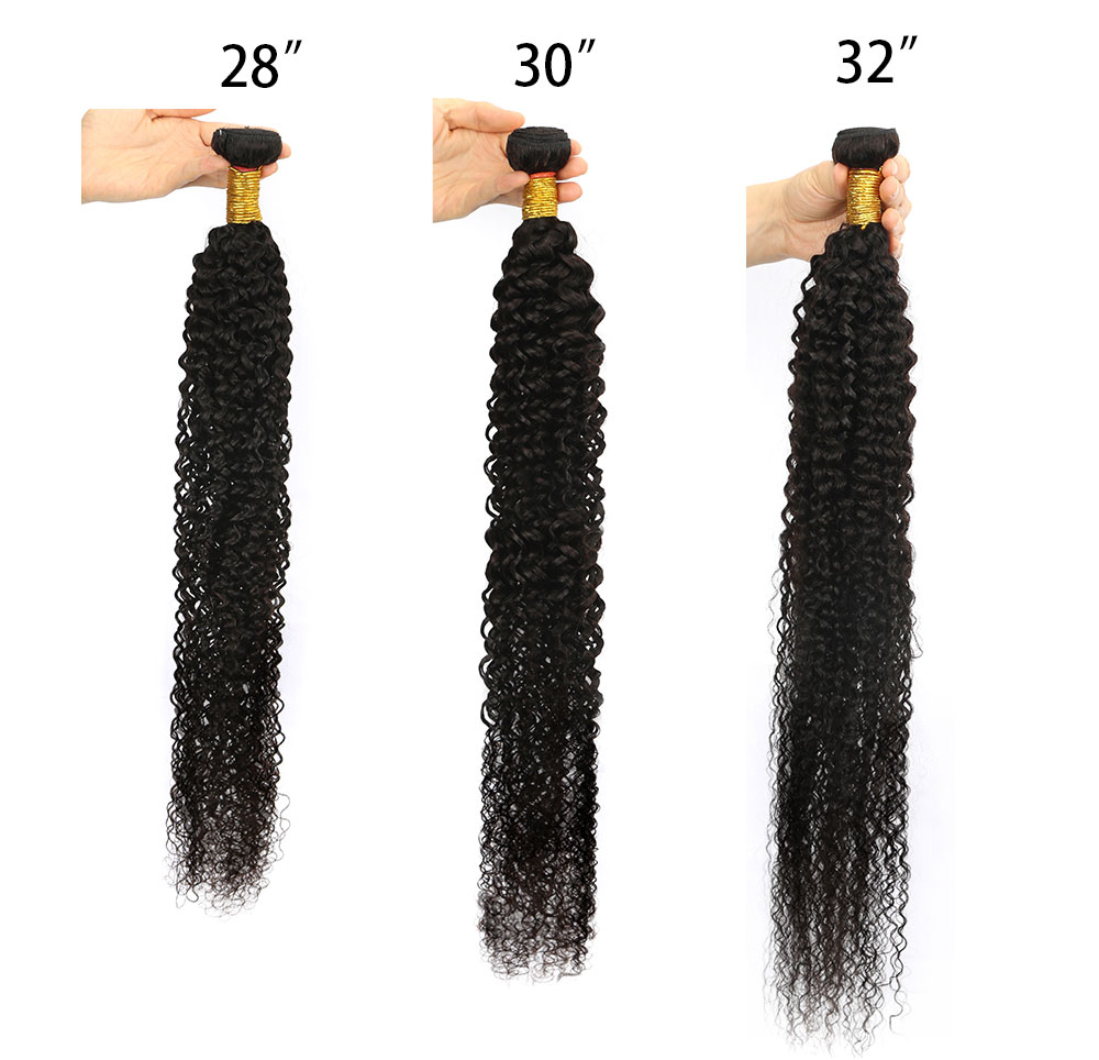 Encaracolado feixes de cabelo humano 30 32