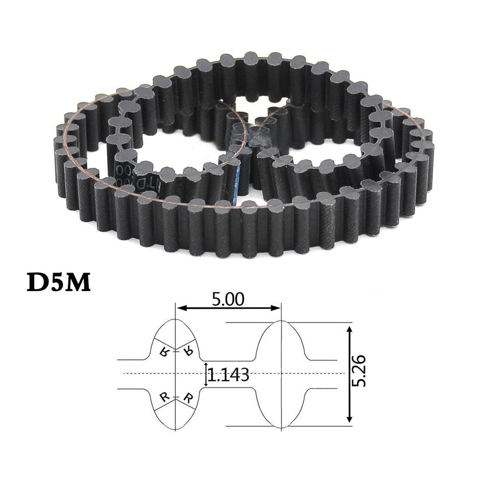 D/&D PowerDrive D1240-5M-15 Double Sided Timing Belt