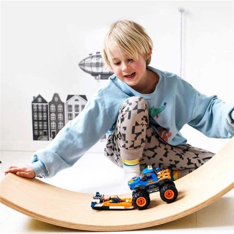 Placa de equilíbrio de madeira pré-escolar aprendizagem