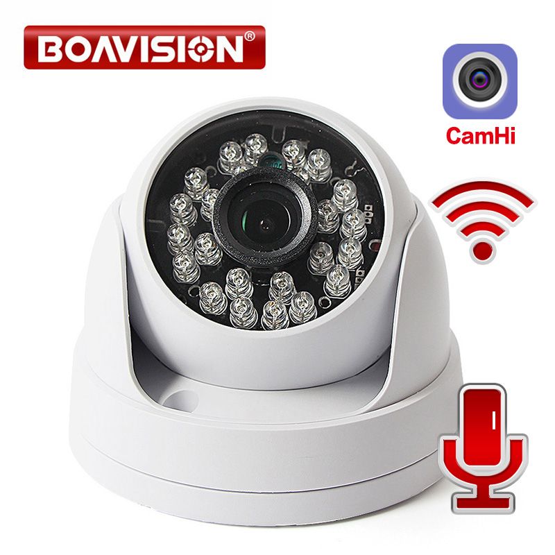 HD 720P 1080P Wireless Wifi IP Camera Audio Security CCTV Dome Camera Wi-Fi IR 20m Night Vision TF Card Slot Onvif P2P APP CamHi