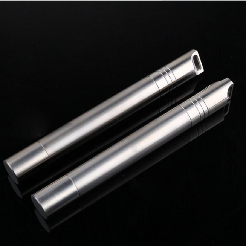 CNC Titanium Cigarette Case Box Pills Container Seal Dampproof Waterproof