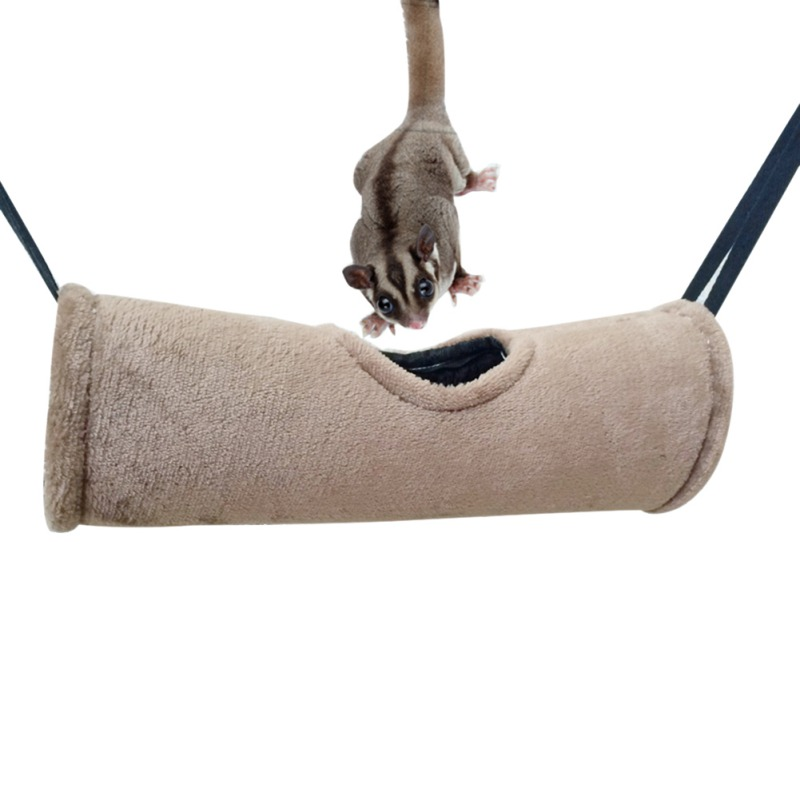 Hamster Velvet Hammock Pet  Soft Warm Tunnel House Small Animals Tube Rat Ferret Toy Small Pet Parrot Hanging Cage Accessory