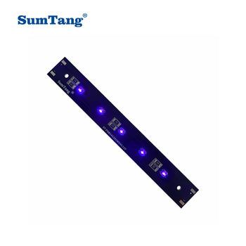 Najnowszy projekt modułu LED UVC bakteriobójcza lampa UV światło ultrafioletowe 12-16V do sterylizacji (145 300)x20x2mm 2 5W 5W 10W tanie i dobre opinie Sumtang CN (pochodzenie) KULKA ST-POB14520 30020 12 v 250mA 450mA 850mA UVC LED MODULE 145*20*2mm 300*20*2mm 2 5-10W UVC 265-285nm (UVA 395-405nm)
