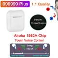 Беспроводные Bluetooth наушники i999999 Plus, TWS наушники с сенсорным управлением громкости и датчиком светильник 12D, наушники с супер басами Airoha 1562A Pk ...
