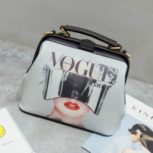 Image 3 - Fashion Cartoon Pattern Pu Leather Crossbody Bags for Women Trending Female Shoulder Handbags Doctor Tote