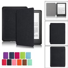 Tablet kılıfı Amazon all-yeni Kindle 10th nesil 2019 darbeye dayanıklı açılır deri kılıf Solidcolor Tablet koruyucu kılıf kapak