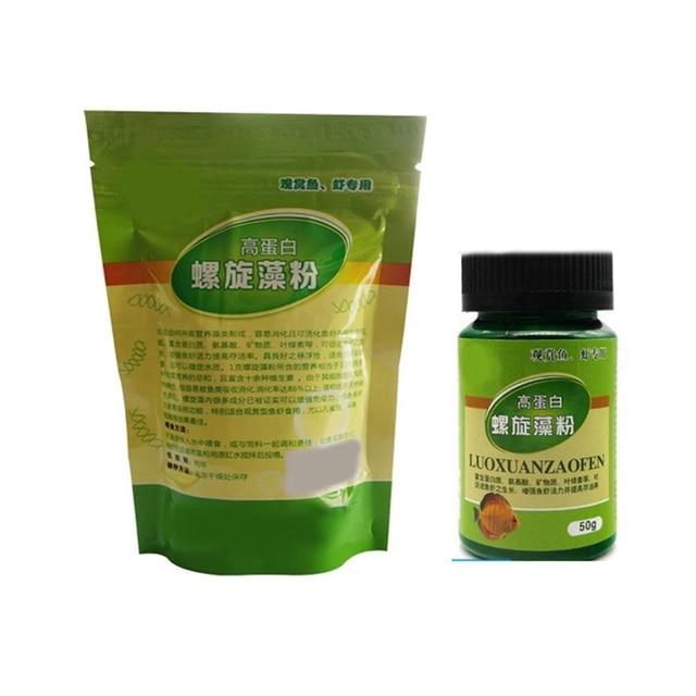 Pet Ornamental Shrimp Open Feed Algae Fish Forages Spirulina Powder Bottle Healthy Ocean Nutrition Fish Food Pets Suppliess 2