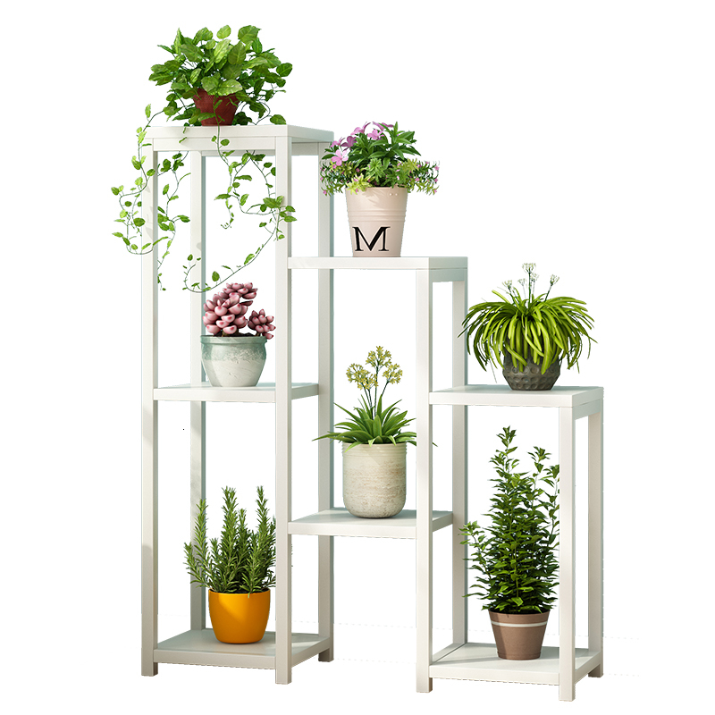 Northern Europe Room Flowerpot Frame Balcony Ground Multi-storeyFlower Rack Iron Art Room Built-in Rack