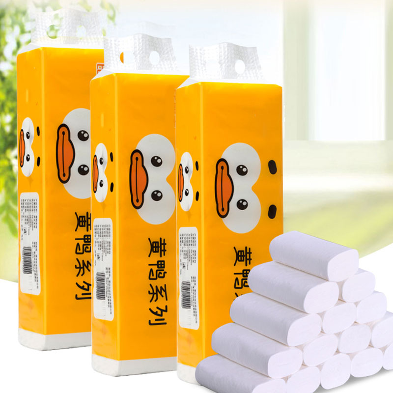 14 Roll Toilet Paper Bulk Roll Bath Tissue Bathroom White Soft 4 Ply For Home H9
