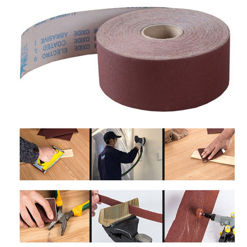 Manufacturers Direct Selling Shredded Emery Cloth Roll Jb-5 Resin Over Resin Soft Emery Cloth Roll TJ113 Polishing Brown Corundu