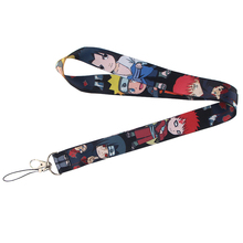 NARUTO anime character Punk lanyard for key in mobile phone strap necklace card holders webbing ribbons keychain keyring E0739