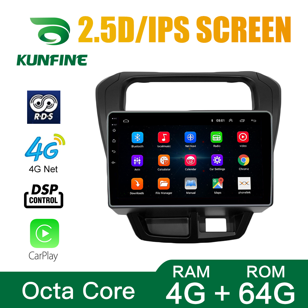 Octa Core Android 10.0 Car DVD GPS Navigation Player Deckless Car Stereo for Suzuki AITO 800 Radio Wifi Bluetooth Headunit