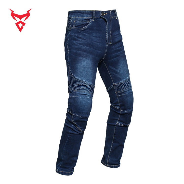 Motocentri Motorcycle Shatter-resistant Jeans Protective Clothing Four-piece Set Jeans Profession Racing Pants Locomotive Pants