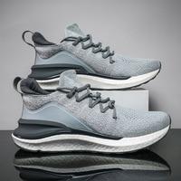 Xiaomi-Zapatillas Mijia 4 originales para hombre, calzado deportivo para exteriores, uni-moldura 4D, con sistema de bloqueo de espina de pescado, para correr