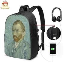Vincent Van Gogh Backpack Vincent Van Gogh Backpacks Print High quality Bag University Trend Student Bags st vincent st vincent s t lp