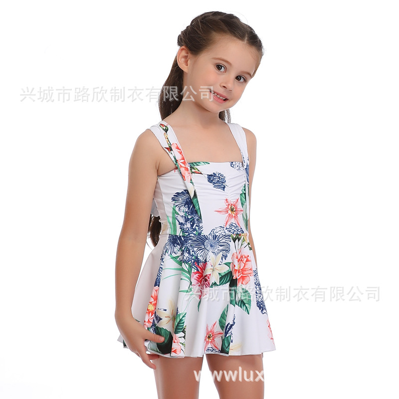 Lu Xin 2020 New Style One-piece GIRL'S Swimsuit Cute Parent And Child CHILDREN'S Swimsuit Hot Selling Hot Selling