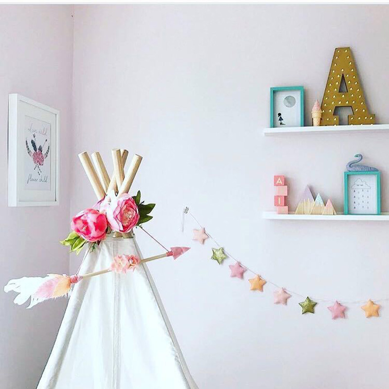 INS Nordic Style Tent Hanging arrow Pendant Wooden Arrow Kids Room Wall Decor Baby Play Tents Ornament Indian Bedroom Hanging Decorations Gifts(China)
