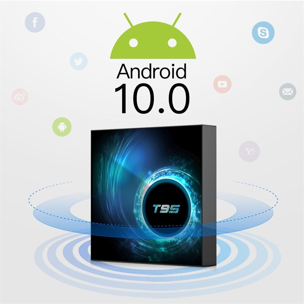 T95 H616 Smart TV Box 4GB RAM 32GB 64GB ROM Allwinner H616 WiFi Media Player 6K HD 2GB 16GB Set Top Box Android 10.0