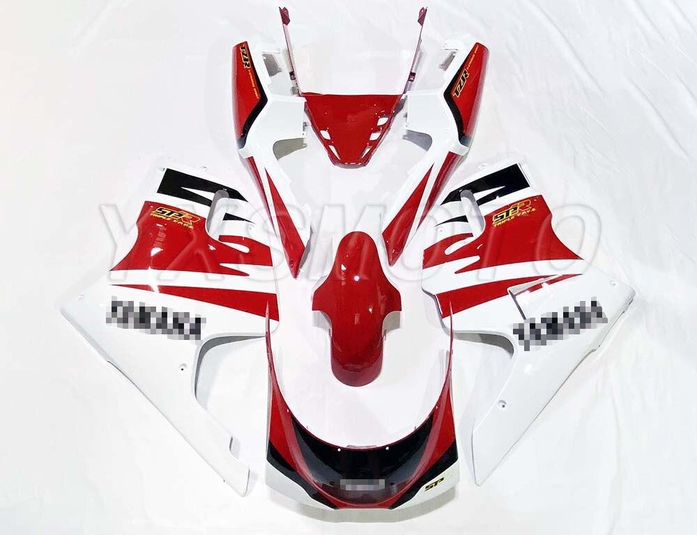Brand New ABS Handmade Fairing Kit For Yamaha TZR250 3XV White Red Tzr 250 3xv