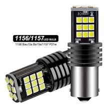 2x сигнальная лампа P21w Led Ba15s 1156 Py21w Bau15s лампы 3030SMD Canbus 1157 Led Bay15d P21/5w сигнала поворота Стоп-сигнал запасной светильник 12V