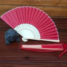 Летний винтажный бамбуковый складной ручной вентилятор китайский танец Вечеринка карманные подарки Складной Свадебный сплошной цвет вентилятор Прямая поставка/D