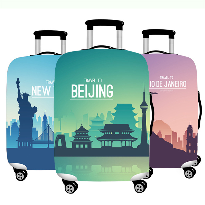 Thicken Travel Luggage Cover Elasticity Suitcase Protective Covers Travel Accessories Suitable For 18-32 Inch Case On Suitcase
