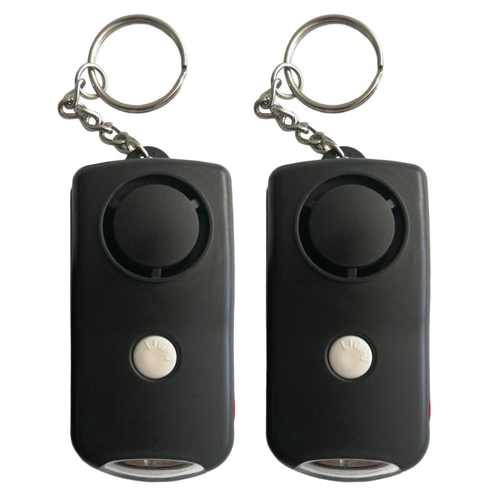 Personal Alarm Keychain SOS Emergency Human Voice Safety Sirens Security Self Defense Electronic Device With LED Flashlight