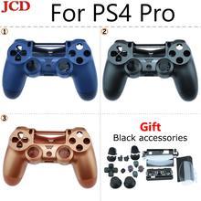 JCD Neue Ersatz Gehäuse Shell Fall für Sony PS4 Pro 4,0 Wireless V2 Controller JDS040 Mod Kit Abdeckung für Dualshock 4 Pro