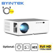 BYINTEK K20 Full HD 1080P 3D inteligentny Android Wifi 300 calowy zestaw kina domowego Projektor wideo LED Projektor Beamer dla kina 4K tanie tanio Instrukcja Korekta Projektor cyfrowy 16 09 CN (pochodzenie) 150W Brak 500 ANSI lumens System multimedialny 1920x1080 dpi