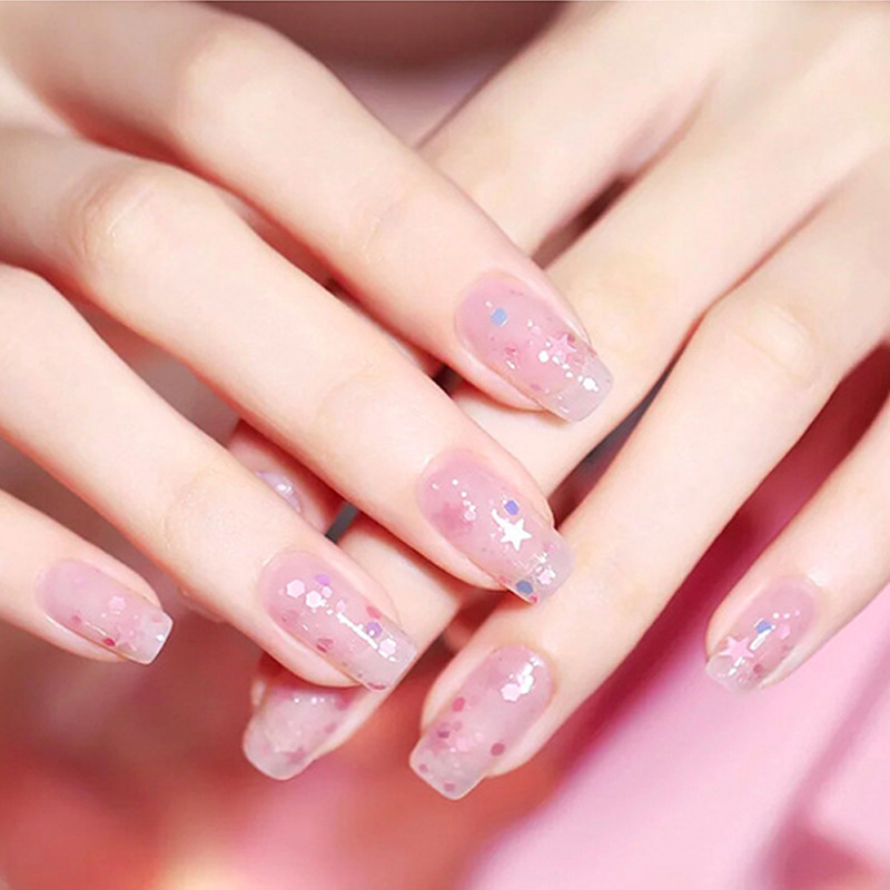 Online Celebrity Nail Sequins Star Moon Bright Ultra High White Shimmering Powder Women's Mixed Decorations Phototherapy Nail Po