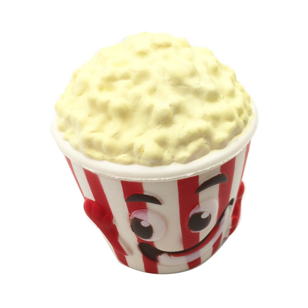 Big Popcorn Cup Squishy Slow Rising Squeeze Toy Squeeze Food Toys Stress Relief Novelty Fun Toys Gift For Children #B