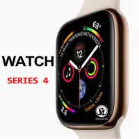 Скидка 50% Смарт-часы серии 4 Смарт-часы чехол для apple 5 6 7 iPhone Android смарт-телефон пульсометр педометр (красная кнопка)