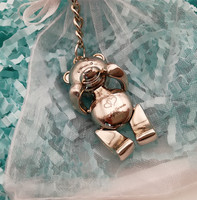 Bride Groom Personalized Key Ring Key Chain Bear Customized Wedding Favour Bomboniere Baptism Baby Shower Souvenirs Thank Gifts