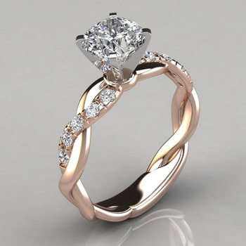 10K Rose Gold White 1 Carat FL Diamond Ring for Female Silver Color 925 Jewelry Bizuteria Gemstone 10K Gold Jewelry Diamond Ring 0 1 carat sona synthetic diamond fashion ring 925 sterling silver gold plated ring us size from 4 to 10 5 dfe