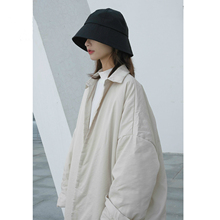 Jacket Women Yamamoto Outwear UMI MAO Simple Cotton with Lapel Over-The-Knee Dark-Niche