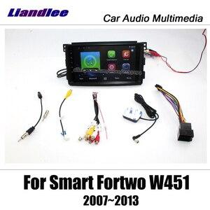 Image 4 - נגן מולטימדיה לרכב אנדרואיד עבור החכם Fortwo W451 2007 ~ 2014 רדיו סטריאו אביזרי וידאו Carplay מפת GPS ניווט לא DVD