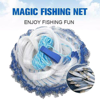 Fishing Net Aluminum Ring USA Catch Catcher Portable Tool Outdoor Hand Throw SAL99