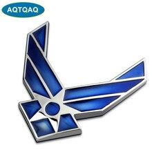 AQTQAQ-pegatina 3D de Metal Fuerza Aérea DE LOS EE.UU. para coche, emblema, insignia, adhesivo universal, apto para todos los coches, 1 Uds.